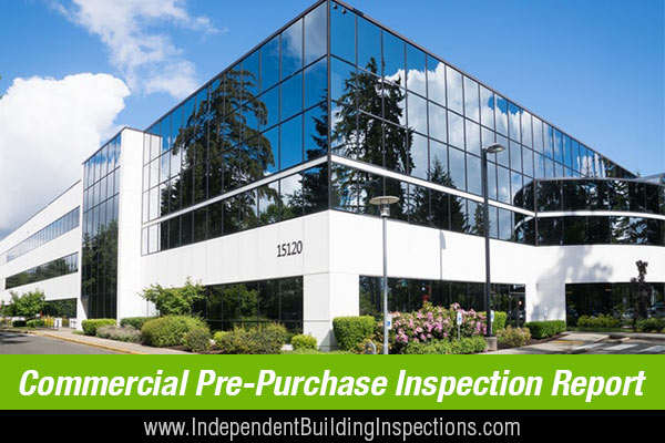 pre-purchase inspection reports for commercial properties