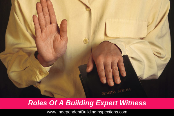 Roles and responsibilities of a building expert witness - image